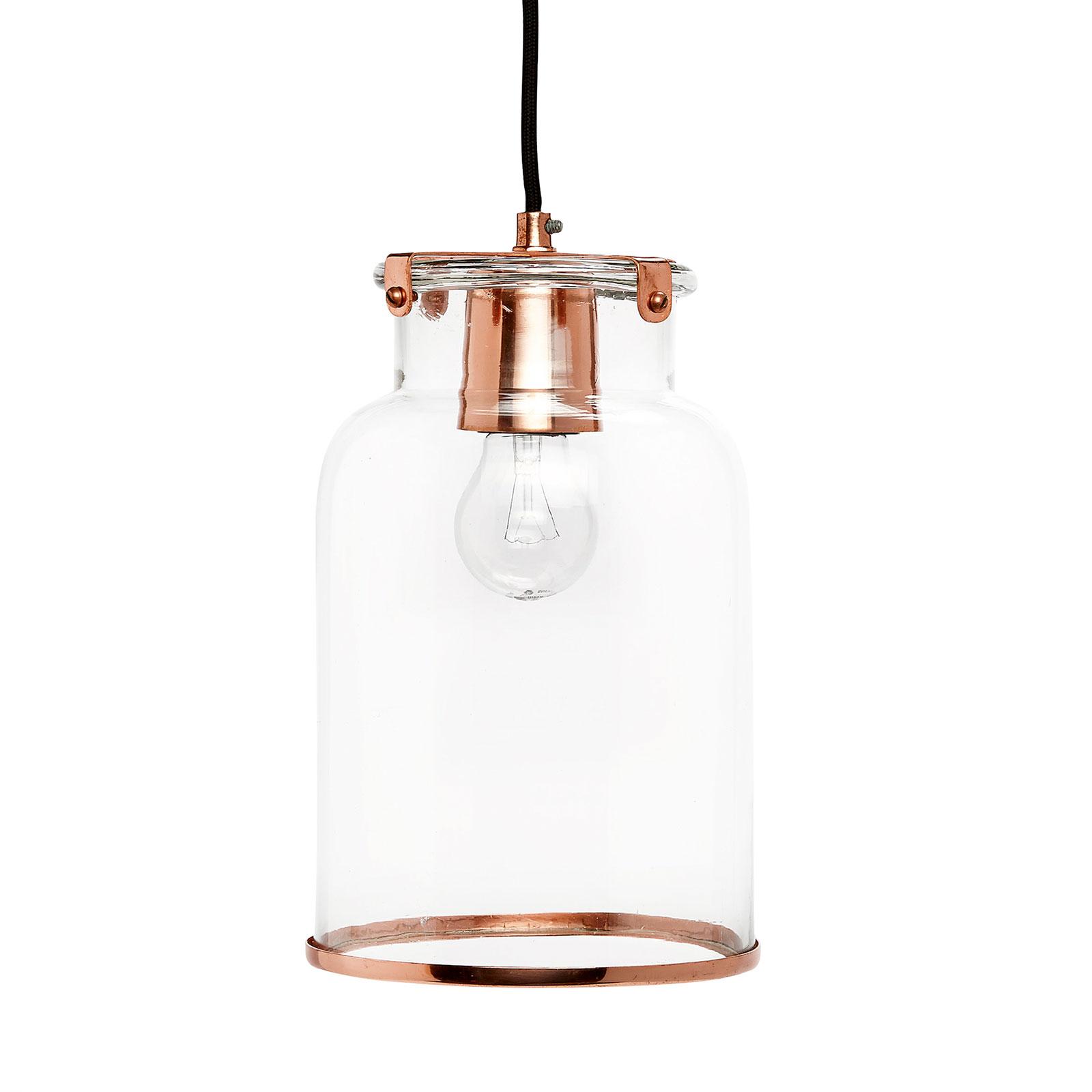 hanglamp glas koper funky furniture. Black Bedroom Furniture Sets. Home Design Ideas